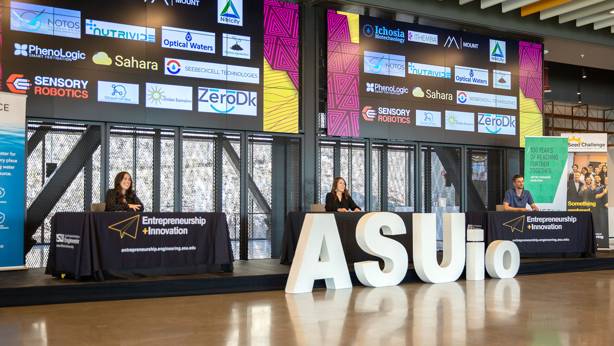 Image of the ASU.io stage during the 2021 competition.