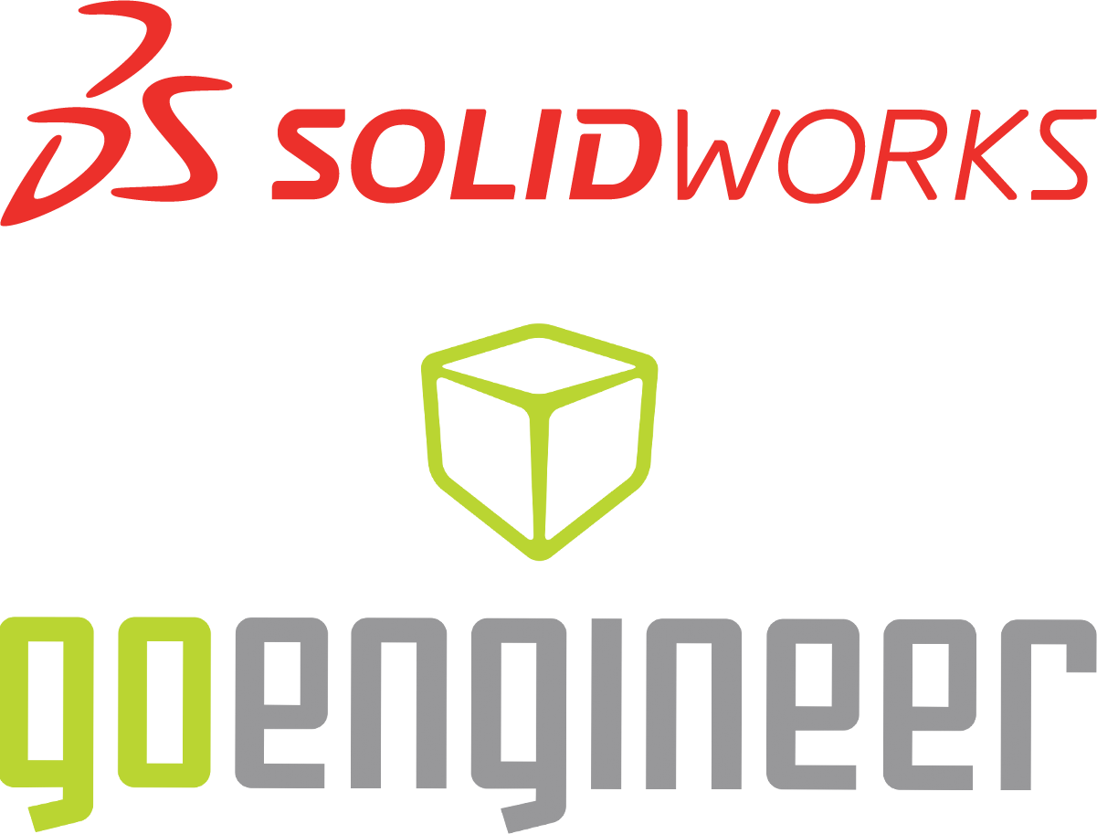 An image of two logos. SolidWorks and Go Engineer